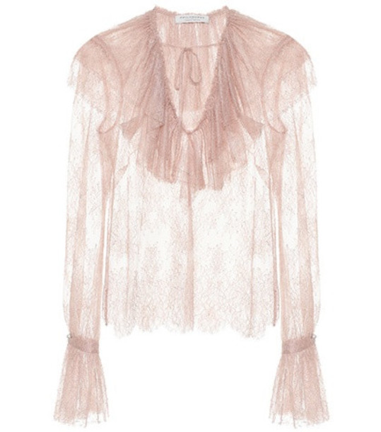 Philosophy Di Lorenzo Serafini Lace blouse in pink