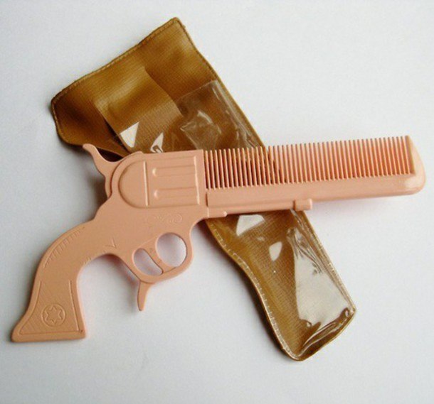 hair accessory pistol cool