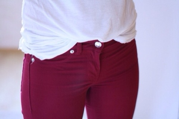 jeans colored jeans