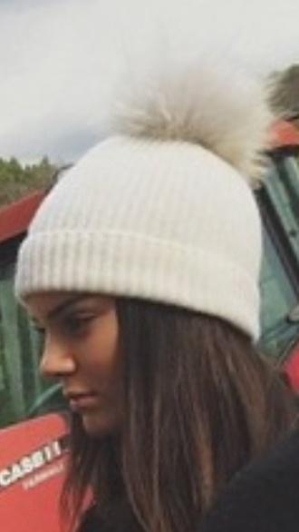 faux fur beanie beanie kendall jenner pom pom beanie fur hat cashmere fur pom pom fur pom pom beanie cream cashmere hat