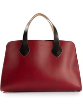 bag,marni,burgundy,bi-colour tote,tote bag