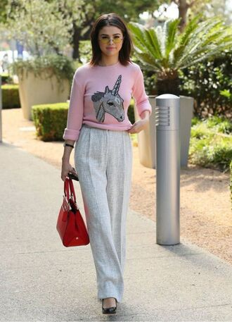 sweater unicorn selena gomez