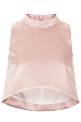 **LIMITED EDITION High Neck Crop Top - Sleeveless Tops - Topshop