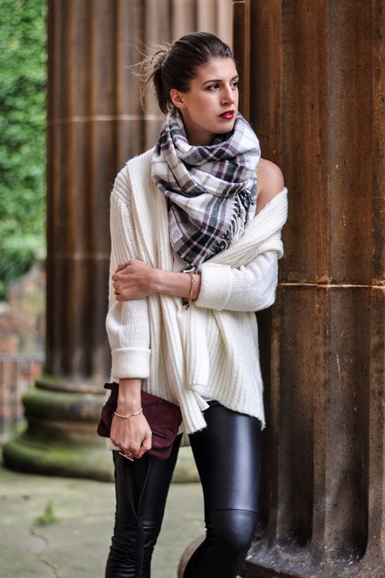 Leather   plaid = formula | Thankfifi - UK fashion blog by Wendy H Gilmour.