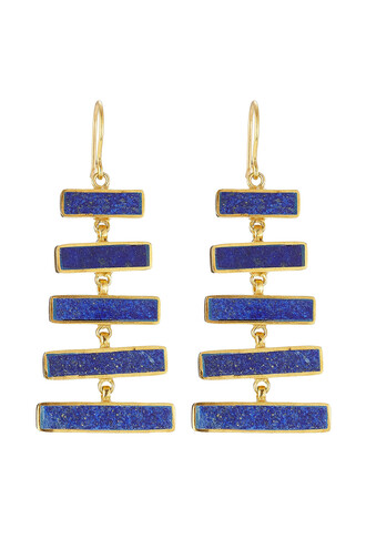 silver earrings earrings gold silver blue jewels