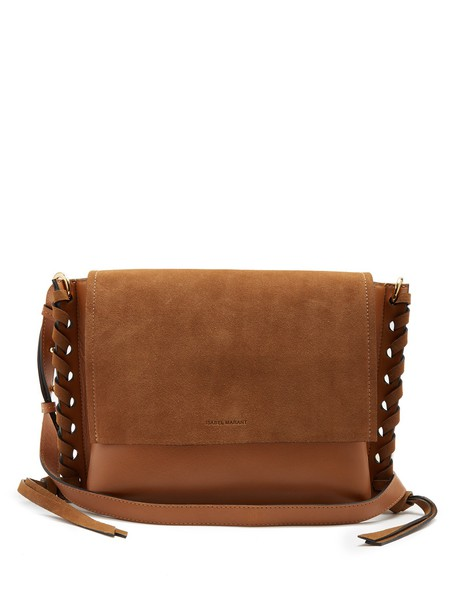 Isabel Marant cross bag leather suede tan