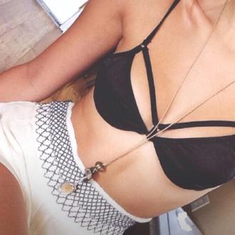 underwear black bra bralette double strap bra straps black bralette black cutout cutout bralette cutout bralet carrie bradshaw