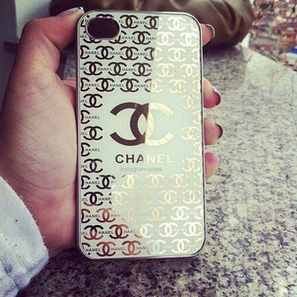 phone case goldandwhite logo
