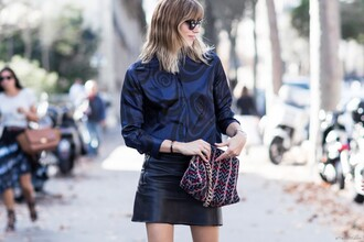 after drk blogger sunglasses navy shirt skirt