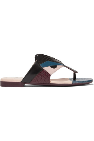 sandals leather sandals leather black teal shoes