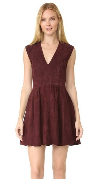 dress shift dress suede burgundy