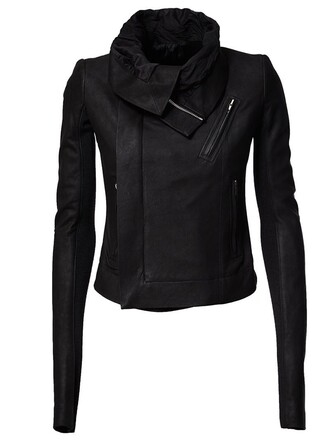 jacket biker jacket draped black