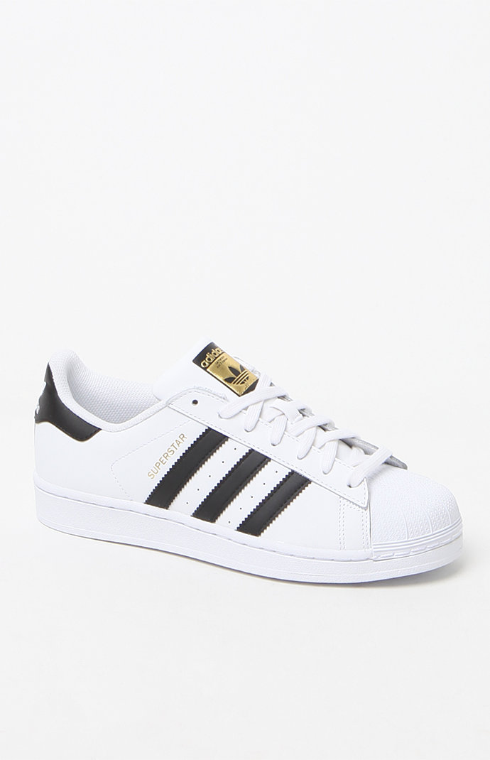 adidas Women s Black and White Superstar Sneakers at PacSun.com b05b11e9dc