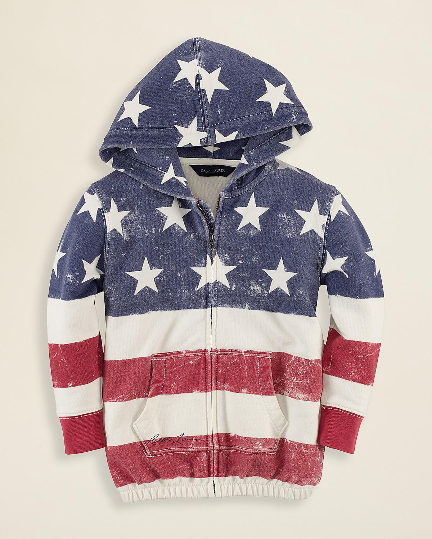 Ralph Lauren Childrenswear Girls' Flag Hoodie - Sizes 2-6X | Bloomingdale's