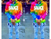 sweater,sauce sweatshirt,hoodie,multicolor,jacket,rainbow,tie dye,colorful,yellow,blue,orange,pink,green,neon,sauce,tide dye sauce hoodie