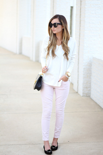 for all things lovely blogger top jeans bag shoes jewels sunglasses