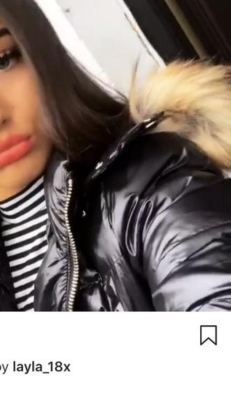 coat jacket bubble jacket with fur winter coat bubble jacket fur