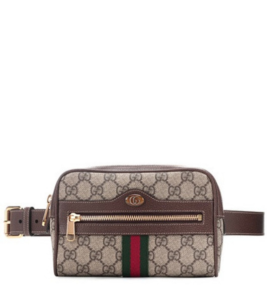 Gucci Ophidia GG Supreme Small belt bag in brown