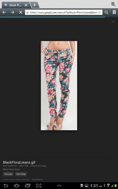 jeans floral jeans