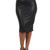 OM Leather Look Midi Skirt   Outfit Made
