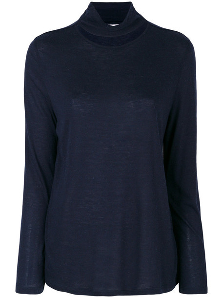 Iro jumper cut-out women blue sweater