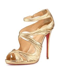 Kashou metallic red sole sandal
