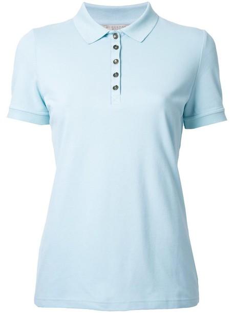 Burberry shirt polo shirt women classic cotton blue top