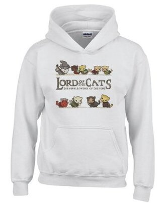 lord of the rings cats pullover hoodie