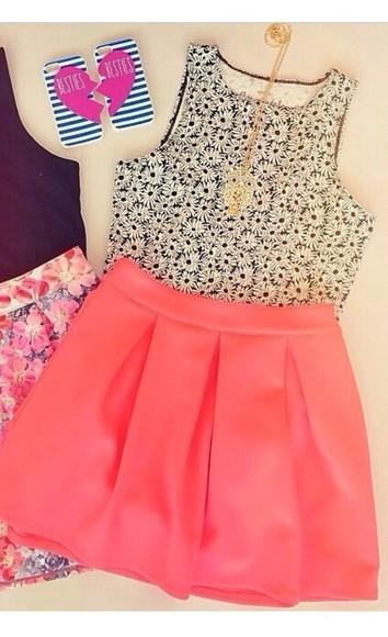 skirt skater skirt pink skirt cute skirts girly outfits tumblr