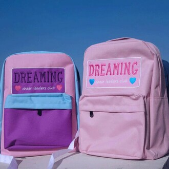 bag pink backpack pastel cute girly back to school teenagers boogzel