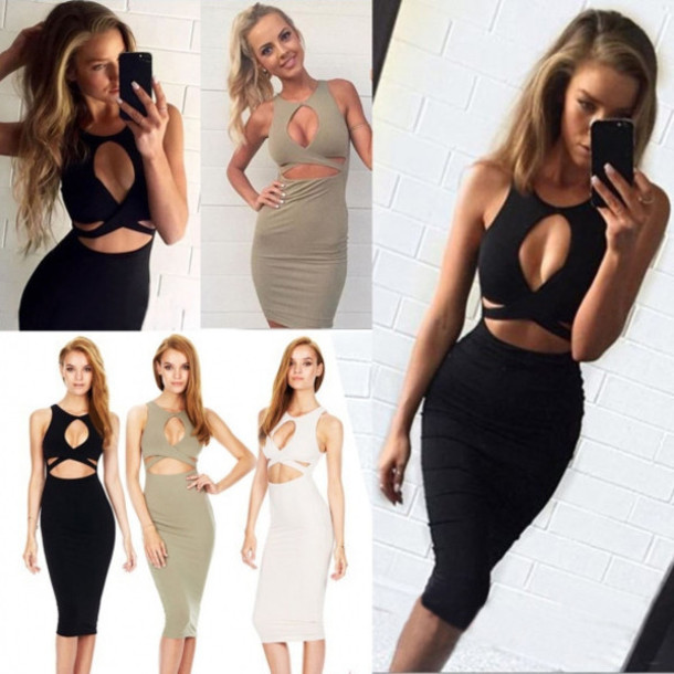 dress outfit made clubwear party cutout cute outfits