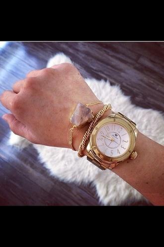 jewels bracelets purple stone gold purple crystal golden watch