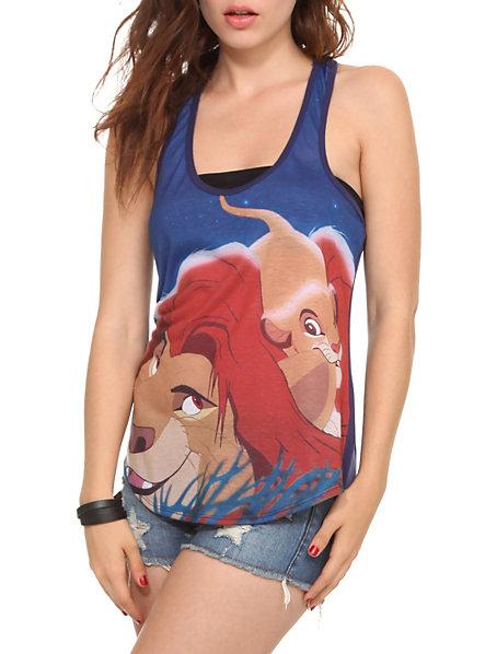 Disney the lion king simba and mufasa girls tank top
