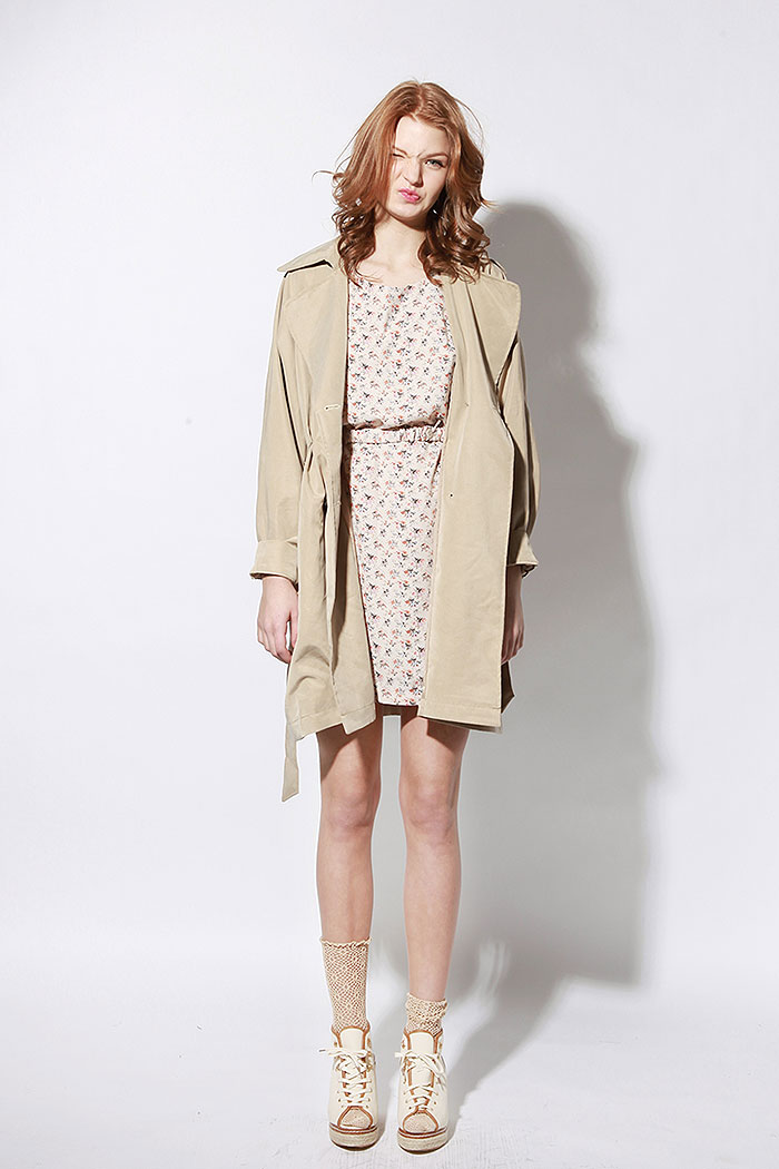 London oversized granny trench coat