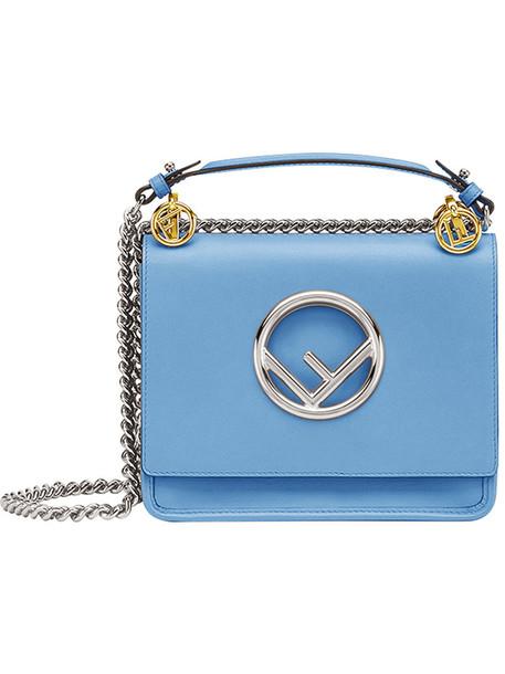 Fendi mini women bag mini bag leather blue