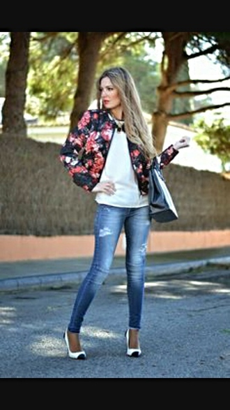 jacket veste fleur fleurie classic sumemr skirt bag