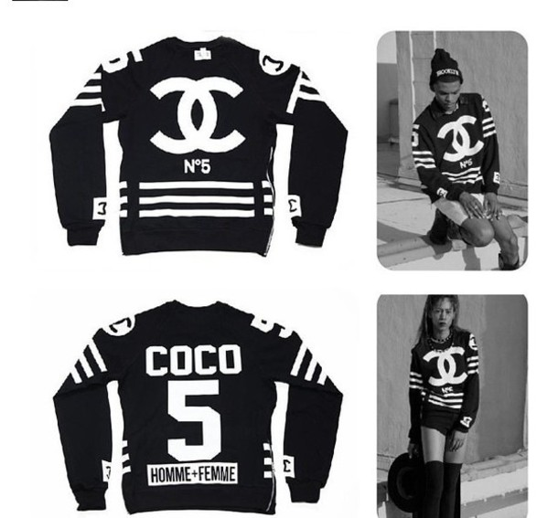 sweater chanel coco street style hood by air jacket black 55 on it wheretoget. Black Bedroom Furniture Sets. Home Design Ideas
