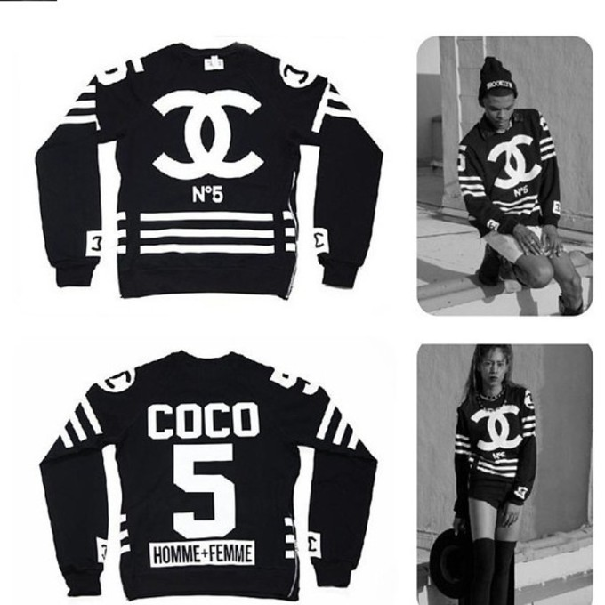 jacket chanel coco sweater street style hood by air coco chanel. Black Bedroom Furniture Sets. Home Design Ideas