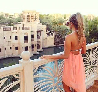 floaty floaty dress peach dress peach strappy summer dress summer