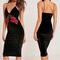 Black velvet rose dress on storenvy