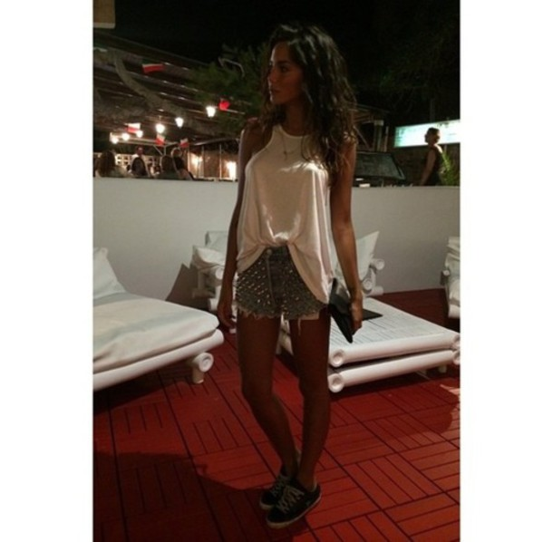 tank top shorts summer outfits chiara biasi