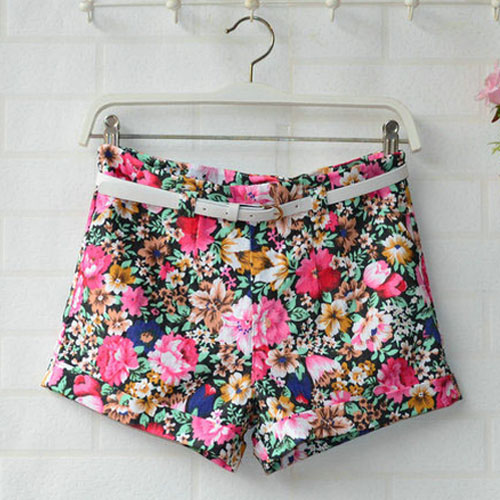 Fashion Women Colorful Floral Printed Casual Pants Ladies' Shorts ...