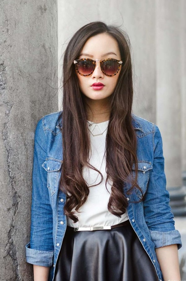 jacket denim jacket skirt sunglasses blouse jeans hippie girly