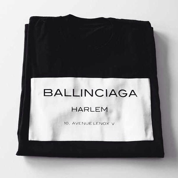 t-shirt balinciaga harlem shirt black casual chic blogger top