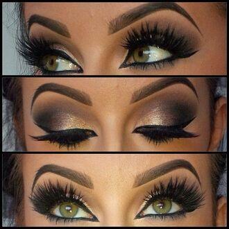 make-up gorgeous lookbook chic pretty eye shadow eyeliner false eyelashes