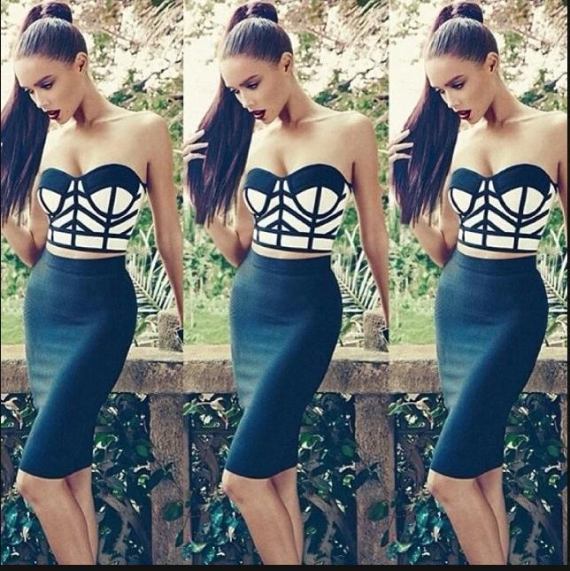 Fashion cute geometric dress