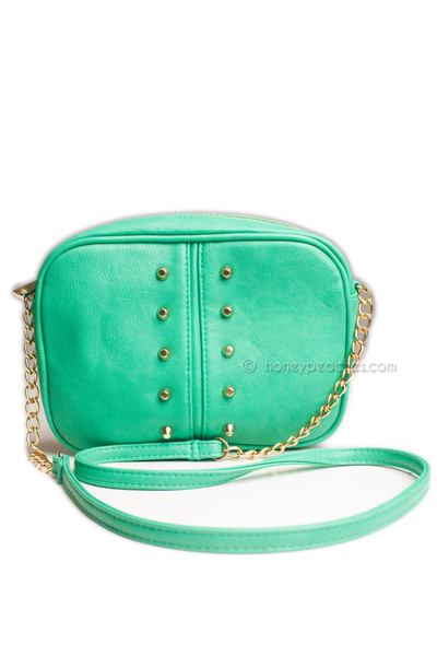 Alicia Stud Bag - Jade | Honey Peaches