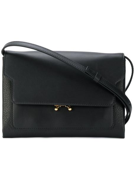 metal women bag shoulder bag leather black
