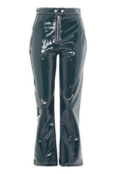 flare vinyl pants