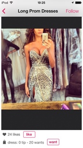 dress,silver dress,sparkling dress,prom dress,beautiful,pretty,sparkly dress,prom,pageant,feathers,extravagant,glitter prom dress,ball gown dress,sparkle jewelry,gold and silver prom dresss,i saw online,sweetheart dress,jiovani